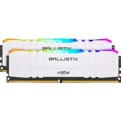 Memória Crucial Ballistix Sport LT, RGB, 64GB (2X32), 3200MHz, DDR4, CL16, Branca - BL2K32G32C16U4WL