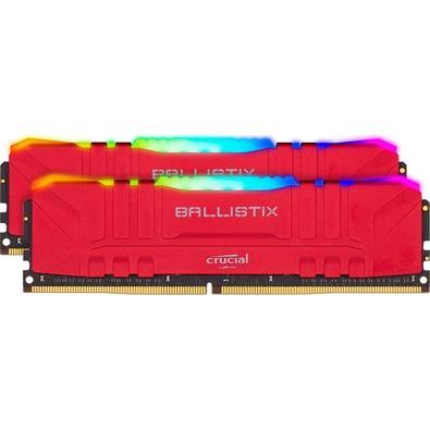Memória Crucial Ballistix Sport LT, RGB, 32GB (2x16), 3600MHz, DDR4, CL16, Vermelha - BL2K16G36C16U4RL