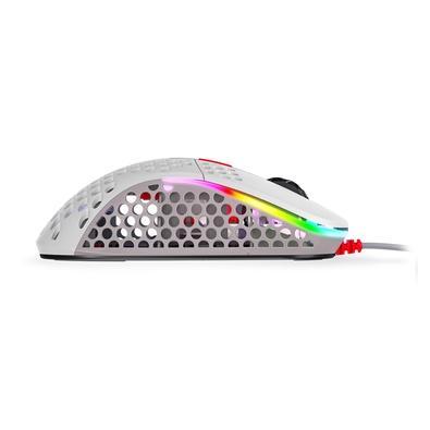 Mouse Gamer Xtrfy M4, RGB, 6 Botões, 16000DPI, Branco Retrô - XG-M4-RETRO