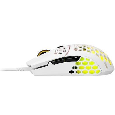 Mouse Gamer Cooler Master MM711, RGB, 6 Botões, 16000DPI, Branco Glossy - MM-711-WWOL2