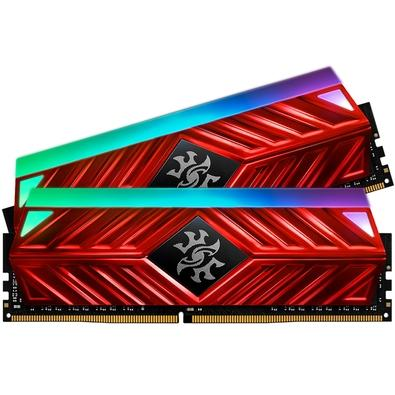Memória XPG Spectrix D41, RGB, 32GB (2x16GB), 3000MHz, DDR4, CL16, Vermelho - AX4U3000316G16A-DR41