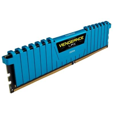 Memória Corsair Vengeance LPX 32GB (4x8GB) 2666Mhz DDR4 C16 Blue - CMK32GX4M4A2666C16B