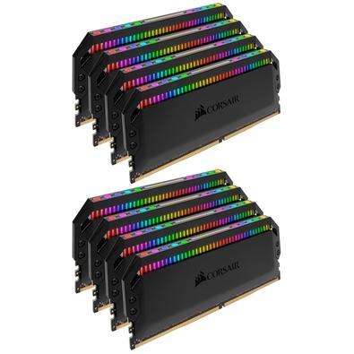Memória Corsair Dominator RGB 128GB (8x16GB) 3800MHz  DDR4  C19 Black - CMT128GX4M8X3800C19