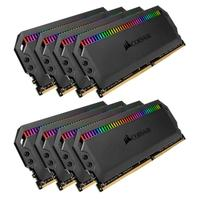 Memória Corsair Dominator RGB 64GB (8x8GB) 4000MHz  DDR4  C19 Black - CMT64GX4M8X4000C19