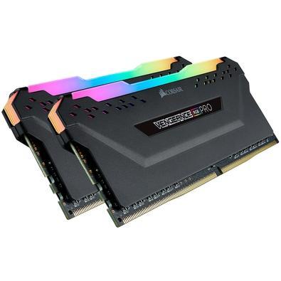 Memória Corsair Vengeance RGB Pro 32GB (2x16GB) 2933MHz DDR4 C16 Ryzen Black - CMW32GX4M2Z2933C16
