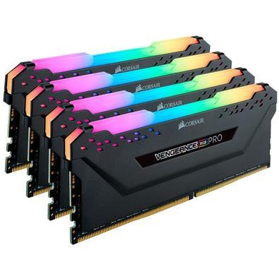 Memória Corsair Vengeance RGB Pro 32GB (4x8GB) 2933MHz DDR4 C16 Ryzen Black - CMW32GX4M4Z2933C16
