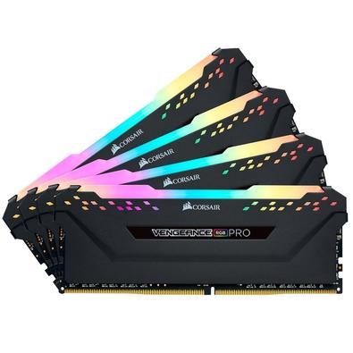 Memória Corsair Vengeance RGB Pro 64GB (4x16GB) 3466MHz DDR4 C16 Black - CMW64GX4M4C3466C16