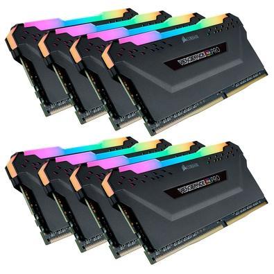 Memória Corsair Vengeance RGB Pro 64GB (8x8GB) 4000MHz DDR4 C19 Black - CMW64GX4M8X4000C19