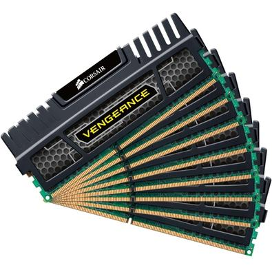 Memória Corsair Vengeance 64GB (8x8GB) 1600Mhz DDR3 C9 - CMZ64GX3M8A1600C9