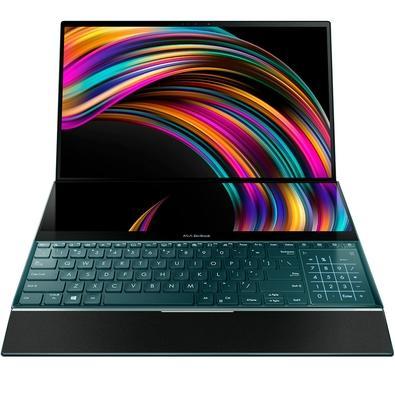 Notebook Asus Zenbook Pro Duo, Intel Core i9-9980HK, 32GB, 1TB, NVIDIA RTX2060, Windows 10 Home, 15.6´, Azul Celestial - UX581GV-H2019T