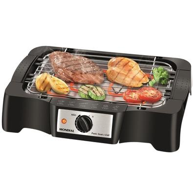 Churrasqueira Elétrica Mondial Pratic Steak and Grill, 110V - CH-07
