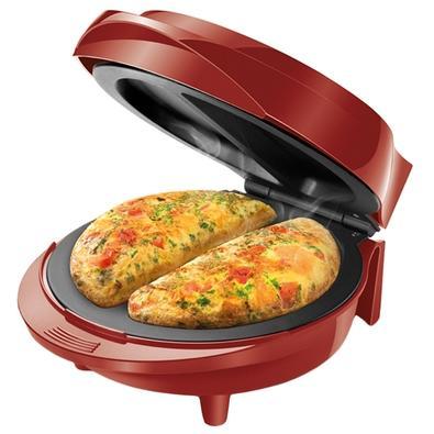Omeleteira Elétrica Mondial Pratic Omelet, 1000W, 110V, Vermelho - OM-03