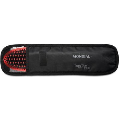 Escova Alisadora Mondial Magic Brush, Controle de Temperatura, 30W, Bivolt, Vermelha - EA-01