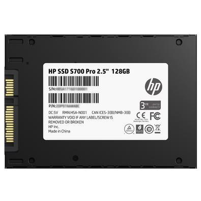 SSD HP S700 Pro, 128GB, SATA, Leituras: 560Mb/s e Gravações: 460Mb/s - 2AP97AA#ABL