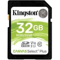 Cartão de Memória Kingston Canvas Select Plus SD Card 32GB Classe 10 - SDS2/32GB