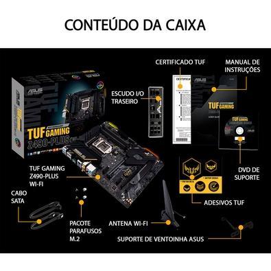 Placa-Mãe Asus TUF Gaming Z490-Plus (Wi-Fi), Intel LGA 1200, ATX, DDR4