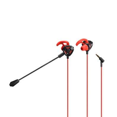 Fone de Ouvido Gamer Warrior Ariki, com Microfone Destacável, P3, Preto/Vermelho - PH296