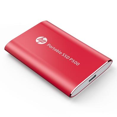 SSD Externo HP P500, 500GB, USB, Leituras: 370Mb/s e Gravações: 200Mb/s, Vermelho - 7PD53AA#ABC