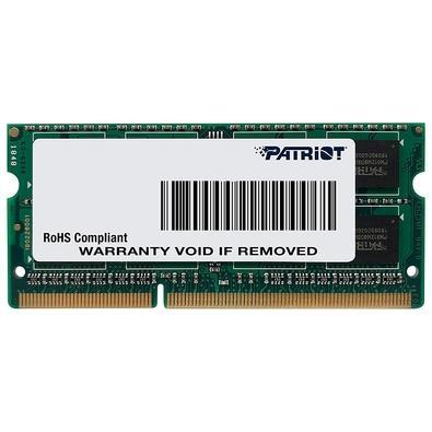 Memória Ram Notebook 8gb Ddr3 1600mhz Psd38g1600l2s Patriot