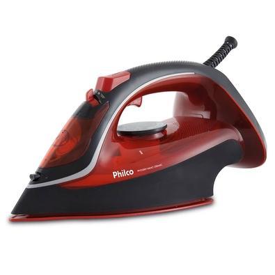 Ferro de Passar a Vapor Philco Nano Ceramic PPFV2300V, 1200W, 220V, Preto/Vermelho - 53602033
