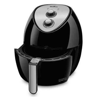 Fritadeira Sem Óleo Britânia Gourmet Inox BFR09P, 3.2 Litros, 220V, Preto/Inox - 63802051