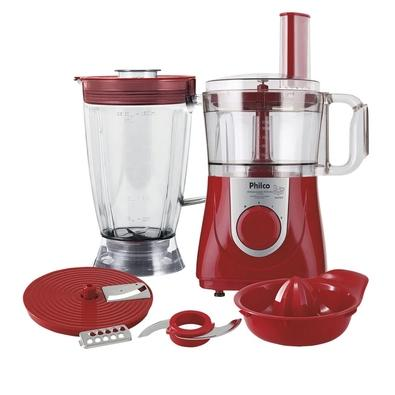 Multiprocessador Philco All In One + Citrus, 800W, 220V, Vermelho - 53302041