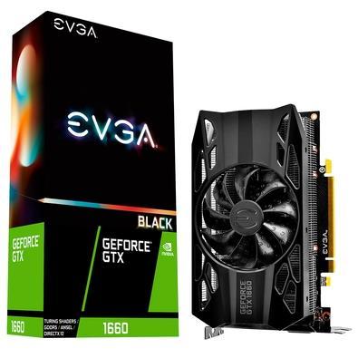 Placa de Vídeo EVGA NVIDIA GeForce GTX 1660 Black Gaming, 6GB, GDDR5 - 06G-P4-1160-KR