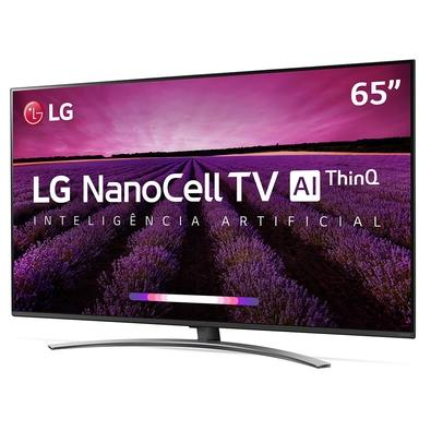 Smart TV LED 65´ LG UHD 4K NanoCell, Conversor Digital, 4 HDMI, 3 USB, Wi-Fi, ThinQ AI, HDR - 65SM8100