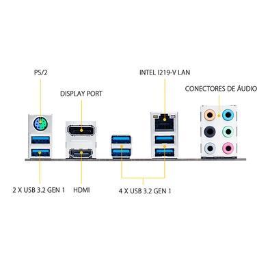 Placa-Mãe Asus TUF Gaming B460-Plus, Intel LGA 1200, ATX, DDR4