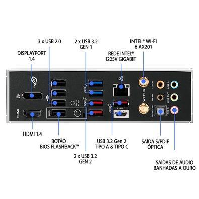 Placa-Mãe Asus ROG Strix Z490-E Gaming, Intel LGA 1200, ATX, DDR4