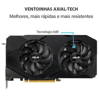 Placa de Vídeo Asus Dual NVIDIA GeForce RTX 2070 EVO V2 OC Edition, 8GB, GDDR6 - DUAL-RTX2070-O8G-EVO-V2