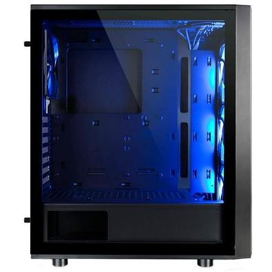 Gabinete Gamer Thermaltake Versa J25, Mid Tower, RGB, com FAN, Lateral em Vidro - CA-1L8-00M1WN-01