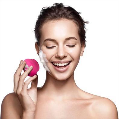 Escova Sônica Para Limpeza Facial Multilaser Bella Mini, Recarregável, Rosa - HC183