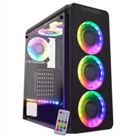 Gabinete Gamer K-Mex Infinity V, Mid Tower, LED Rainbow, com FAN, Lateral em Acrílico - CG05G8RH005CB0X
