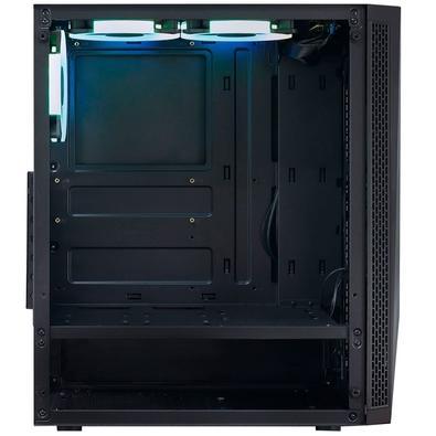 Gabinete Gamer PCYes Vector, Mid Tower, RGB, com FAN, Lateral em Vidro - VCPTRGB3FV (33108)