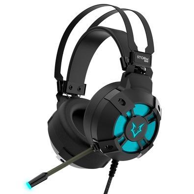 Headset Gamer Husky Gaming Storm V2, Preto, P2, Drivers 50mm, RGB - HGMD003