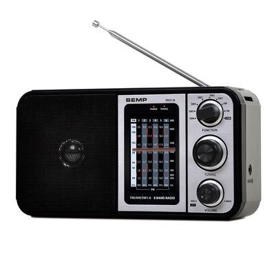 Rádio Portátil SEMP Multibanda, FM/AM, 1W RMS, USB - TR01B