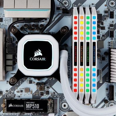 Memória Corsair Dominator Platinum 64GB (4x16GB), 3200Mhz, DDR4, C16, Branca - CMT64GX4M4C3200C16W