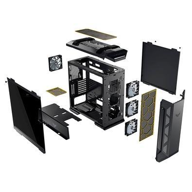 Gabinete Gamer Asus TUF Gaming GT501, Mid Tower, Aura Sync RGB, com FAN, Lateral em Vidro - 90DC0012-B40000