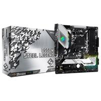 Placa-Mãe ASRock B550M Steel Legend, AMD AM4, Micro ATX, DDR4
