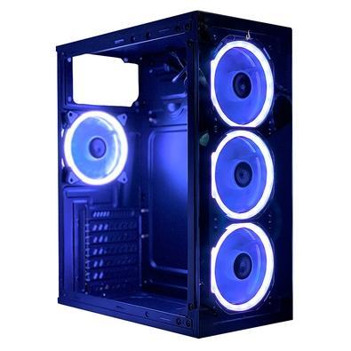 Gabinete Gamer Rise Mode Glass 07, Mid Tower, RGB, com FAN, Lateral em Acrílico, Frontal em Vidro - RM-CA-07-RGB