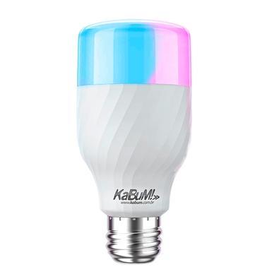 Lâmpada KaBuM! Smart, RGB + Branco, 10W, Google Home, Alexa