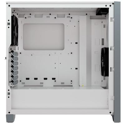 Gabinete Gamer Corsair 4000D Airflow, Mid Tower, com FAN, Lateral em Vidro Temperado, Branco - CC-9011201-WW