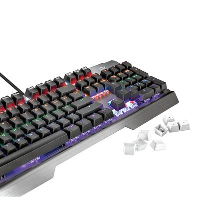 Teclado Mecânico Gamer Trust GXT 877 Scarr, LED, Switch Red, US - 23385