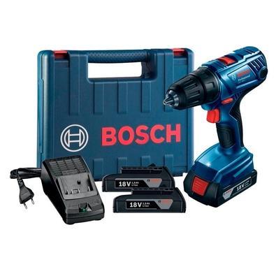 Parafusadeira e Furadeira a Bateria Bosch GSR 180 LI, de 1/2´, 18V, com 2 Baterias, Carregador Bivolt - 06019F81E0-000