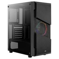 Gabinete Gamer Aerocool Menace Saturn FRGB, Mid Tower, RGB, com FAN, Lateral em Vidro - 70616