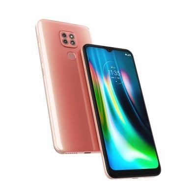 Smartphone Motorola Moto G9 Play, 64GB, 48MP, Tela 6.5´, Rosa Quartzo + Capa Protetora + Fone de Ouvido Estéreo - B08KHN5VF4