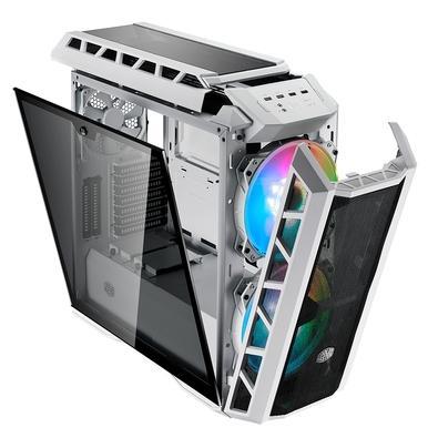 Gabinete Gamer Cooler Master H500P Mesh, Mid Tower, ARGB, com FAN, Lateral em Vidro, Gun Metal Grey - MCM-H500P-WGNN-S01