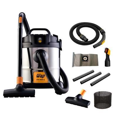 Aspirador de Pó e Água com Soprador Portátil WAP GTW Inox 12, 1400W, 220V, Prata/Preto - FW005042