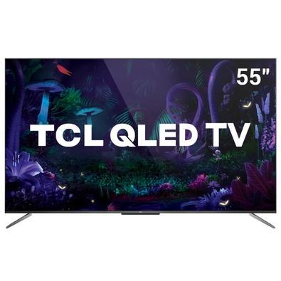 Smart TV TCL 55´ 4K QLED UHD, WiFi, Bluetooth, 3x HDMI, 2x USB, HDR10+, Google Assistant, Android TV, Dolby Vision, Sem Bordas - 55C715
